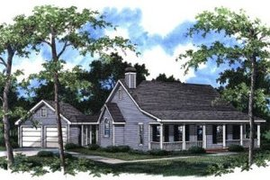 Architectural House Design - Country Exterior - Front Elevation Plan #41-112