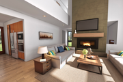 Contemporary Style House Plan - 4 Beds 3.5 Baths 2874 Sq/Ft Plan #48-1019 Interior - Family Room