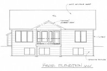 Architectural House Design - Traditional Exterior - Rear Elevation Plan #58-203