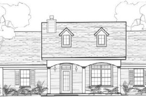 Colonial Exterior - Front Elevation Plan #14-249