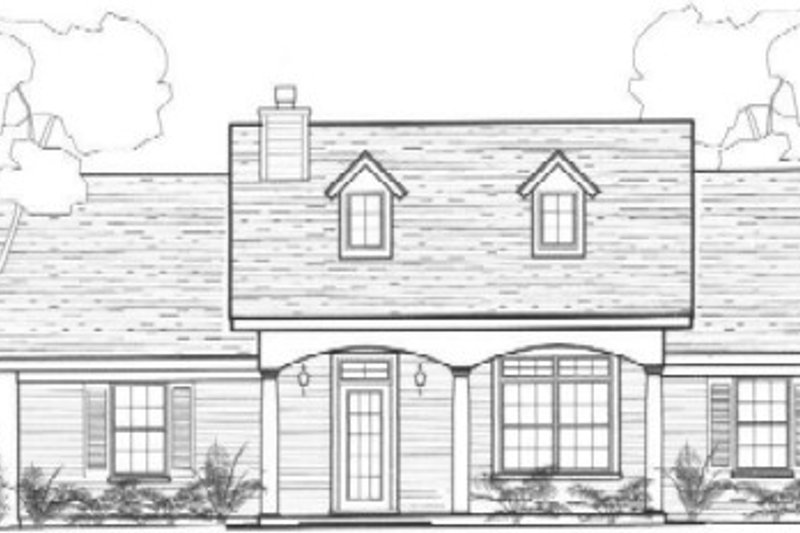 Colonial Style House Plan - 3 Beds 2 Baths 1288 Sq/Ft Plan #14-249 Exterior - Front Elevation