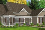 Victorian Style House Plan - 5 Beds 3 Baths 2491 Sq/Ft Plan #63-163 Exterior - Front Elevation