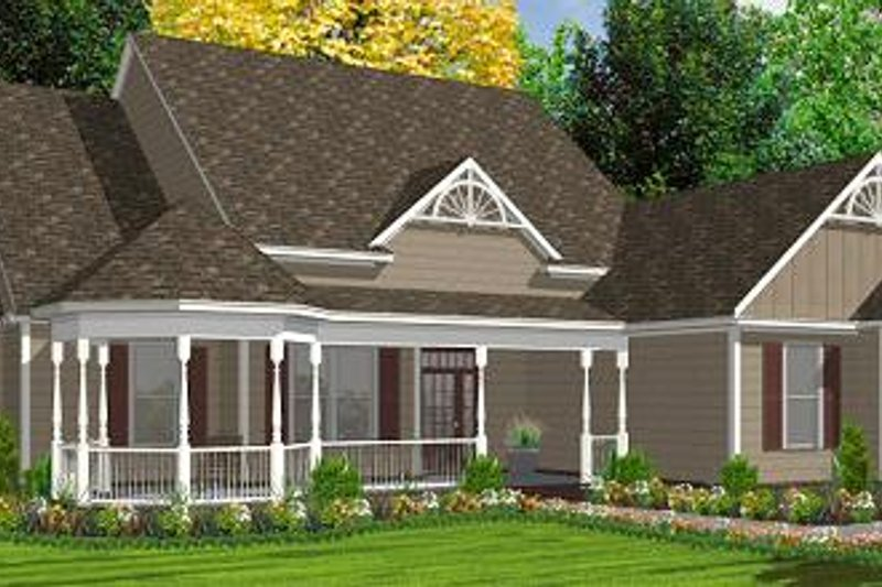 Victorian Style House Plan - 5 Beds 3 Baths 2491 Sq/Ft Plan #63-163