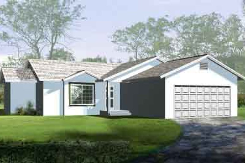 Traditional Style House Plan - 3 Beds 2 Baths 1164 Sq/Ft Plan #1-1064 Exterior - Front Elevation