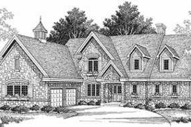 European Exterior - Front Elevation Plan #70-537