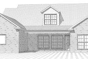 European Style House Plan - 4 Beds 3 Baths 2337 Sq/Ft Plan #63-316 Exterior - Rear Elevation