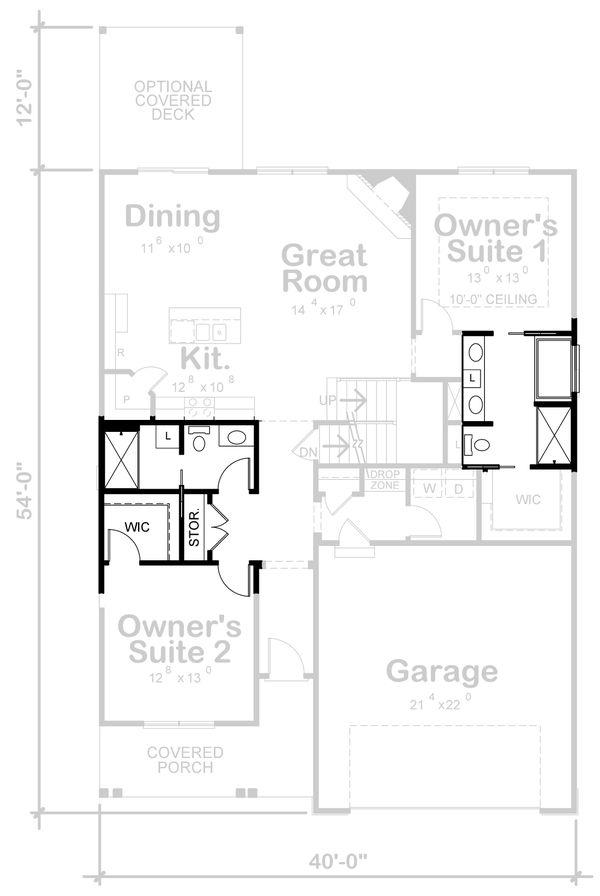 Craftsman Floor Plan - Other Floor Plan #20-2398
