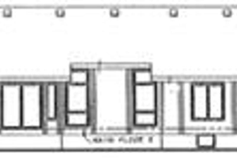 Ranch Exterior - Rear Elevation Plan #20-1536 - Houseplans.com