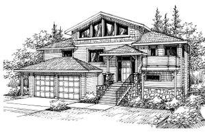 Exterior - Front Elevation Plan #124-328