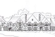 European Style House Plan - 5 Beds 7.5 Baths 11666 Sq/Ft Plan #141-247 Exterior - Front Elevation