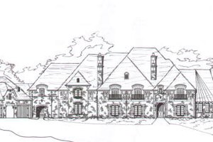 European Exterior - Front Elevation Plan #141-247