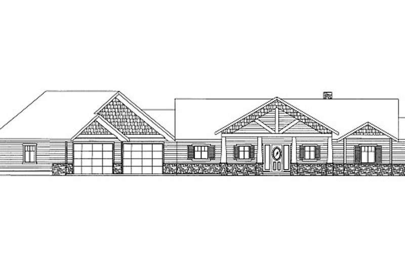 Craftsman Style House Plan - 6 Beds 4.5 Baths 5828 Sq/Ft Plan #117-769 Exterior - Front Elevation