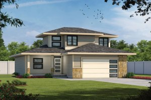 Contemporary Exterior - Front Elevation Plan #20-2483