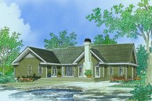 Architectural House Design - Ranch Exterior - Rear Elevation Plan #929-356