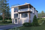 Contemporary Style House Plan - 5 Beds 4 Baths 4144 Sq/Ft Plan #1066-100 Exterior - Other Elevation