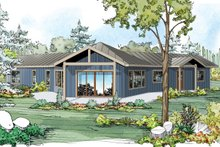 Dream House Plan - Ranch Exterior - Rear Elevation Plan #124-980