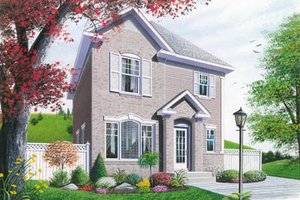 European Exterior - Front Elevation Plan #23-2102