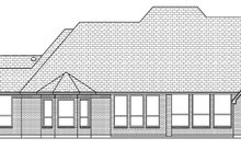 House Design - European Exterior - Rear Elevation Plan #84-612