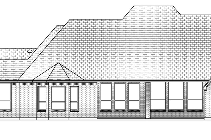 European Exterior - Rear Elevation Plan #84-612 - Houseplans.com