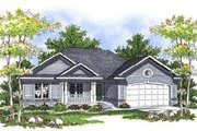 Ranch Style House Plan - 3 Beds 2 Baths 1495 Sq/Ft Plan #70-678 Exterior - Front Elevation