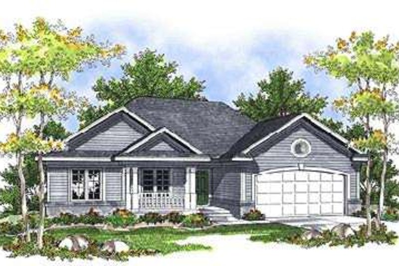 Ranch Exterior - Front Elevation Plan #70-678