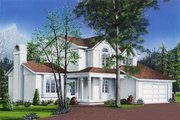 Traditional Style House Plan - 3 Beds 2.5 Baths 2084 Sq/Ft Plan #23-238 Exterior - Front Elevation