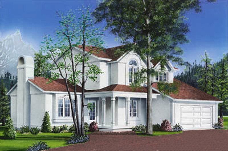 Traditional Exterior - Front Elevation Plan #23-238