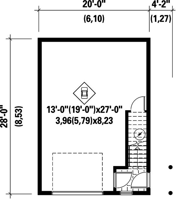Country Floor Plan - Main Floor Plan Plan #25-4438