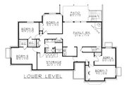 Ranch Style House Plan - 7 Beds 3.5 Baths 4823 Sq/Ft Plan #112-144 Floor Plan - Lower Floor