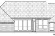 European Style House Plan - 3 Beds 3 Baths 2768 Sq/Ft Plan #84-593 Exterior - Rear Elevation