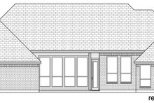 European Exterior - Rear Elevation Plan #84-593