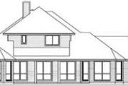 Traditional Style House Plan - 4 Beds 4 Baths 3077 Sq/Ft Plan #84-188 Exterior - Rear Elevation
