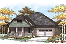 Craftsman Exterior - Front Elevation Plan #70-916