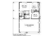 Farmhouse Floor Plan - Main Floor Plan Plan #70-1478