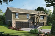 Traditional Style House Plan - 3 Beds 2 Baths 1673 Sq/Ft Plan #20-2347 Exterior - Front Elevation