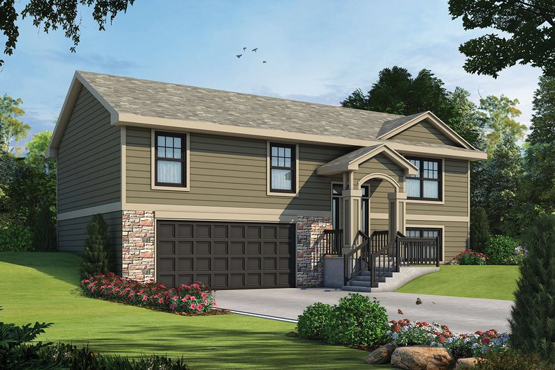 Traditional Style House Plan - 3 Beds 2 Baths 1673 Sq/Ft Plan #20-2347