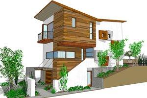 Modern Exterior - Front Elevation Plan #484-3
