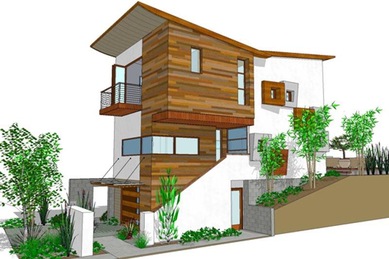House Plan Design - Modern Exterior - Front Elevation Plan #484-3