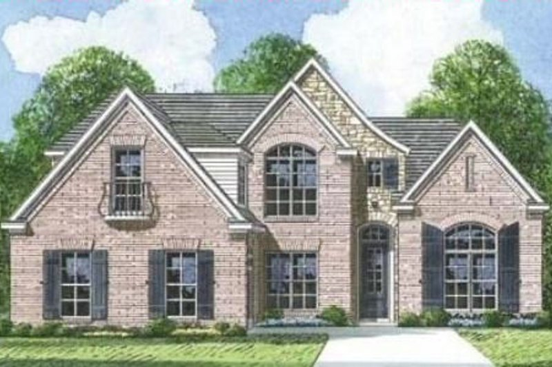 European Style House Plan - 3 Beds 2.5 Baths 2020 Sq/Ft Plan #424-106 Exterior - Front Elevation
