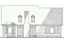 Victorian Exterior - Rear Elevation Plan #137-164
