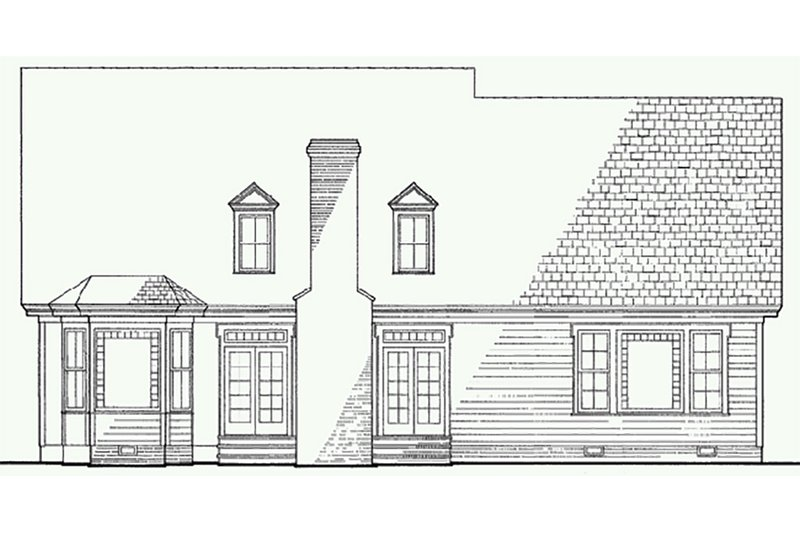 Victorian Exterior - Rear Elevation Plan #137-164 - Houseplans.com