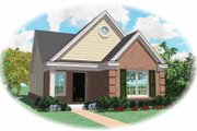 Southern Style House Plan - 2 Beds 2 Baths 1163 Sq/Ft Plan #81-130 Exterior - Front Elevation