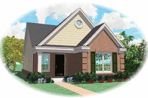 Southern Exterior - Front Elevation Plan #81-130