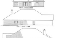 House Plan Design - Country Exterior - Rear Elevation Plan #17-181