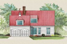 House Plan Design - Country Exterior - Rear Elevation Plan #137-191