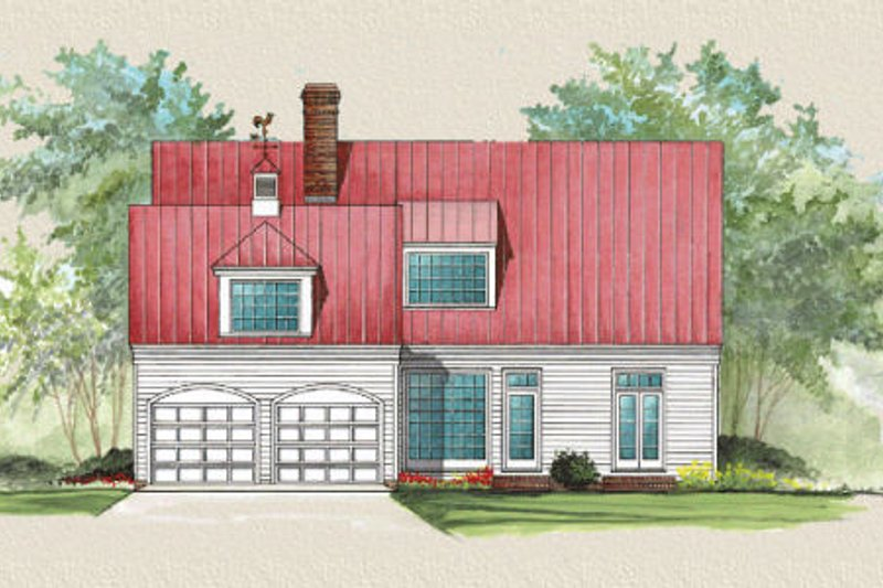 Country Exterior - Rear Elevation Plan #137-191 - Houseplans.com