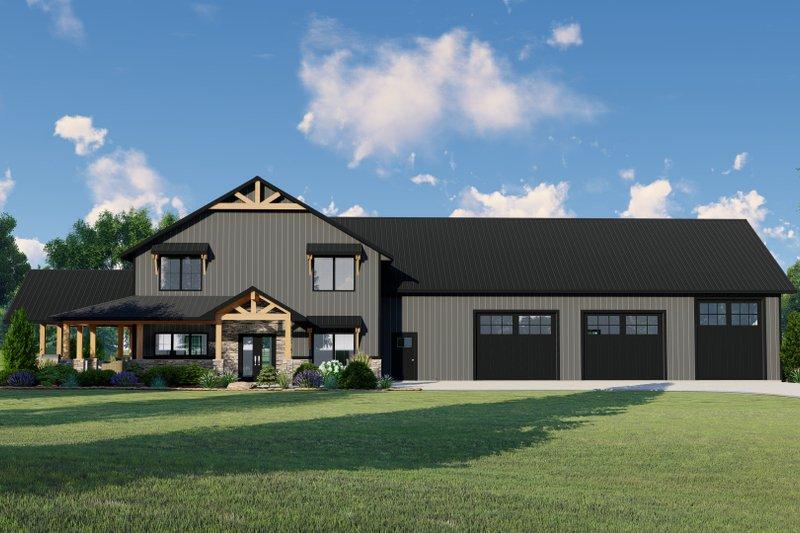 House Plan Design - Farmhouse Exterior - Front Elevation Plan #1064-110