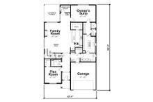 Craftsman Floor Plan - Main Floor Plan Plan #20-2280