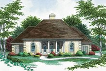 Home Plan Design - European Exterior - Front Elevation Plan #45-137