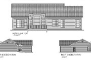Traditional Style House Plan - 3 Beds 2 Baths 1381 Sq/Ft Plan #56-115 Exterior - Rear Elevation